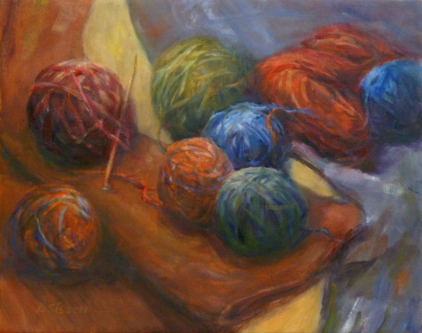 Knitting Artist : Creative writing the starting end